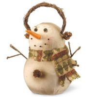 National Tree Company 9-1/2-Inch Holiday Snowman Decoration in Ivory