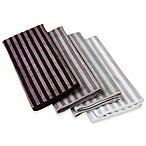 Design Imports Stripe Microfiber Dish Towels in Grey (Set of 4)