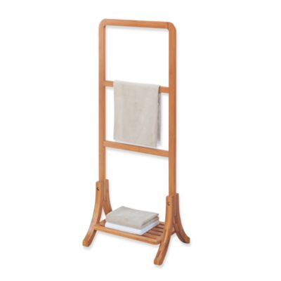 Neu Home Lohas Bamboo Free Standing Towel Stand