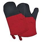 Design Imports Neoprene Oven Mitts in Tango Red (Set of 2)