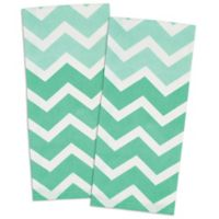 Design Imports Chevron Kitchen Towel in Aqua (Set of 2)