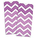 Design Imports Chevron Kitchen Towel in Eggplant (Set of 2)