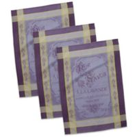 Design Imports Pur Savon French Jacquard Dish Towels in Purple/Yellow (Set of 3)