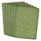 Design Imports 6-Pack Microfiber Kitchen Towels in Green
