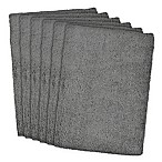 Design Imports 6-Pack Microfiber Kitchen Towels in Grey