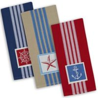 Maritime Embroidered Dishtowel