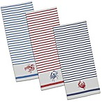 Design Imports Shellfish Dish Towels in Red (Set of 3)