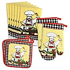 Design Imports 10-Piece Chef Potholder and Dishtowel Set