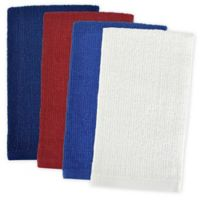 Design Imports 4-Pack Patriotic Bar Mop Dish Towels