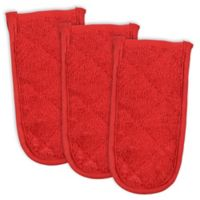 Design Imports Terry Pan Handle Covers in Red (Set of 3)