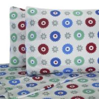 My World Gears Twin Sheet Set in White