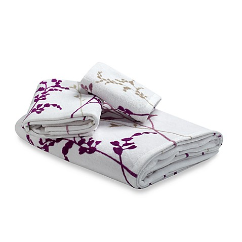 Reflections Purple Bath Towels 100 Cotton Bed Bath