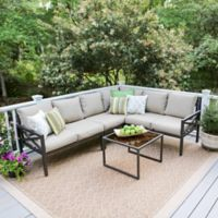 Leisure Made Blakely 5-Piece Sectional Patio Furniture Set in Tan