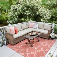 Leisure Made Dalton 5-Piece Sectional Patio Furniture Set in Tan