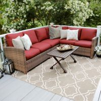 Leisure Made Dalton 5-Piece Sectional Patio Furniture Set in Red