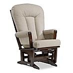 Dutailier® Modern Glider in Brown/Light Beige