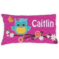 Sweet Owl Pillowcase in Pink