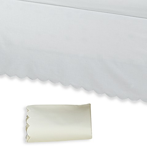 vintage chic™ scallop bed skirt - bed bath & beyond