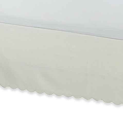 Vintage Chic™ Scallop Twin Bed Skirt in Ivory