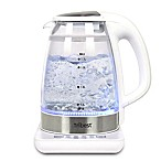 Tribest® Double-Wall Glass Electric Tea Kettle in White/Silver