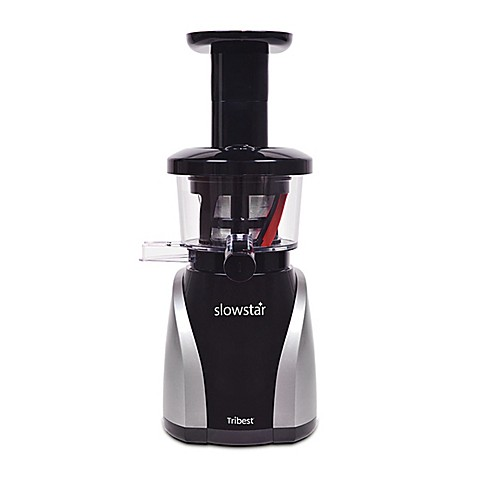 Tribest Slowstar vertical Slow Juicer and Mincer in Black/Silver - buybuy BABY