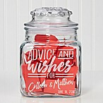 """Advice And Wishes For..."" Engraved Glass Candy Jar"