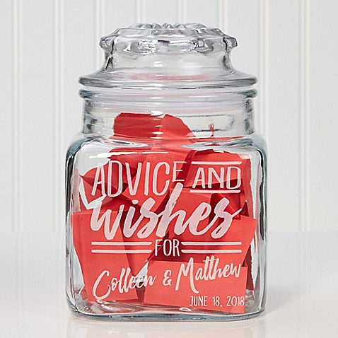 advice and wishes for engraved glass candy jar bed bath beyond