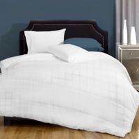 Canada's Best Textured Embossed Microfiber 8 oz. Twin Comforter in White