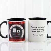 Birthday Oldometer 11 oz. Coffee Mug in Black
