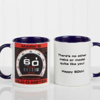 Birthday Oldometer 11 oz. Coffee Mug in Blue