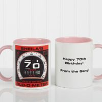 Birthday Oldometer 11 oz. Coffee Mug in Pink