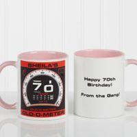 Birthday Oldometer 11 oz. Coffee Mug in Pink