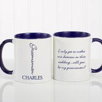 Bridal Brigade 11 oz. Wedding Coffee Mug in Blue/White
