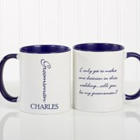 Bridal Brigade 11 oz. Wedding Coffee Mug in Blue/White