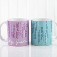 Cascading Names 11 oz. Coffee Mug in White