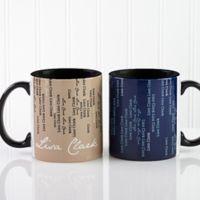 Cascading Names 11 oz. Coffee Mug in Black