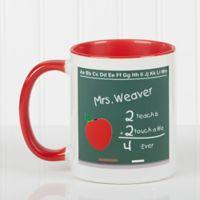 Chalkboard Teacher 11 oz. Coffee Mug in Red/White