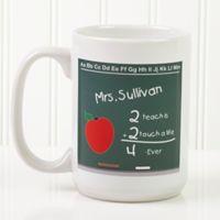 Chalkboard Teacher 15 oz. Coffee Mug in White