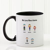 Character Collection 11 oz. Coffee Mug in Black/White