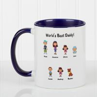 Character Collection 11 oz. Coffee Mug in Blue/White