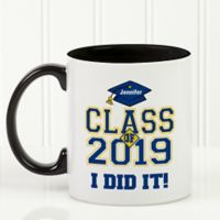Cheers to the Graduate 11 oz. Coffee Mug in Black/White