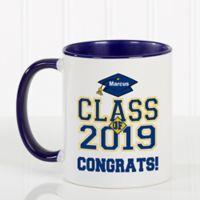 Cheers to the Graduate 11 oz. Coffee Mug in Blue/White