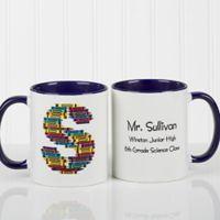 Crayon Letter 11 oz. Teacher Coffee Mug in Blue