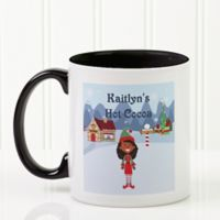 Family Character 11 oz. Coffee Mug in Black