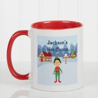 Family Character 11 oz. Coffee Mug in Red