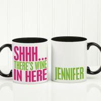 Funny Morning Quote 11 oz. Coffee Mug in Black