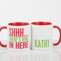 Funny Morning Quote 11 oz. Coffee Mug in Red