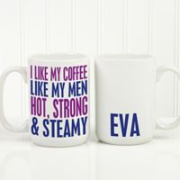 Funny Morning Quote 15 oz. Coffee Mug in White
