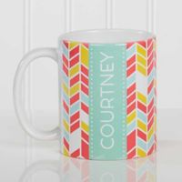 Geometric 11 oz. Coffee Mug in White