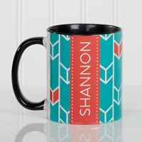 Geometric 11 oz. Coffee Mug in Black